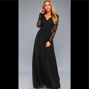 Lulus Awaken My Love Long Sleeve Lace Maxi Dress